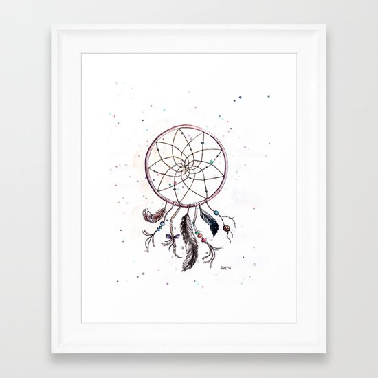 Dream Catcher Framed Art Print