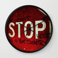 This is bat country  Wall Clock
