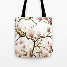 Queen For A Day Pink Magnolia Flower Tote Bag
