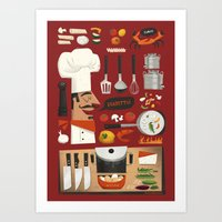 Italian Kitchen Art Print