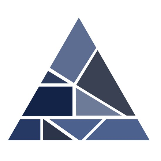 Triangle puzzle Art Print
