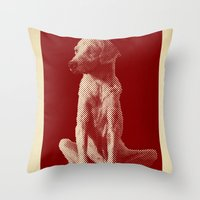The Old Dog Original Halftone Picture Throw Pillow