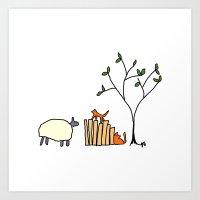 Sheep. Art Print