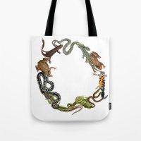 Reptile Wreath Tote Bag