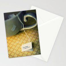 listen to your tea Stationery Cards