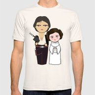 Kokeshis H Solo And Leia Mens Fitted Tee Natural SMALL