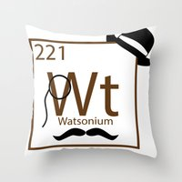 My Dear Watson Is Elemen… Throw Pillow