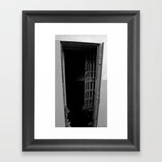 What's beyond? Framed Art Print