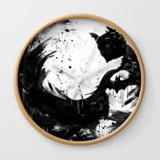 Dark Moon Wall Clock