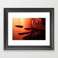 Liquid Metal Framed Art Print