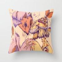 Love On Empty Stomachs Throw Pillow