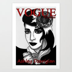 Ashley Dzerigian in VOGUE Art Print