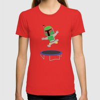 SW Kids - Boba Fett Jump Womens Fitted Tee Red SMALL