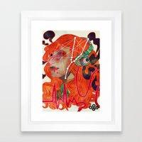 Volume Up Sun Down Framed Art Print