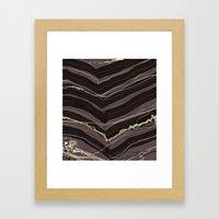 Burnout At Chevron Framed Art Print