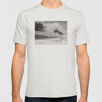 Angry Sea Mens Fitted Tee Silver SMALL
