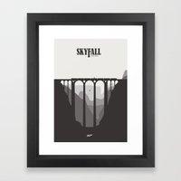 Skyfall - minimal poster Framed Art Print
