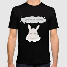 tiny bunny Mens Fitted Tee Black SMALL
