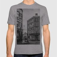 Brick Lane Mens Fitted Tee Athletic Grey SMALL