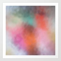 Abstract Square - Colore… Art Print