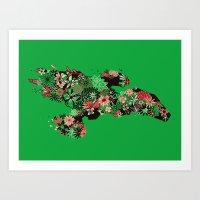 Flowerfly Art Print