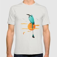 Oklahoma Bird Mens Fitted Tee Silver SMALL