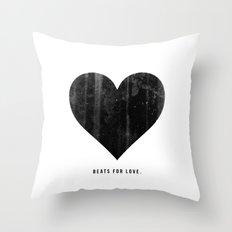 Beats for Love. Throw Pillow