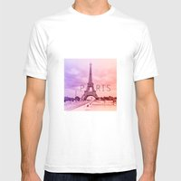a tribute to Paris  Mens Fitted Tee White SMALL