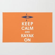 Keep Calm and Kayak On Rug