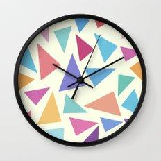 Colorful geometric pattern II Wall Clock
