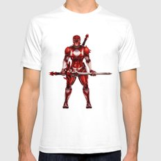 Red Ranger Mens Fitted Tee White SMALL
