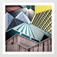 Angles of City Structures Art Print