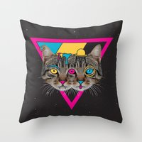 Our New Feline Overlords Throw Pillow