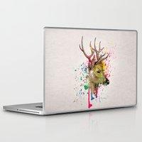 deer Laptop & iPad Skins featuring deer by mark ashkenazi