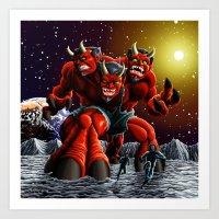 The Moondevil Means Business Art Print
