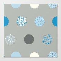 floral dots Canvas Print