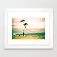 Lone Palms Framed Art Print