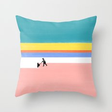 Winter Cleaning Throw Pillow