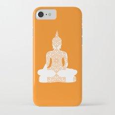 Yoga Art Buddha silhouette in orange Slim Case iPhone 7
