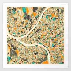 Pittsburgh Map Art Print