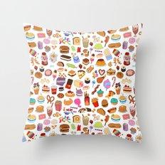Cute food Throw Pillow