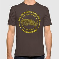 Solo Shipping & Logistic… Mens Fitted Tee Brown SMALL