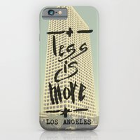 iPhone & iPod Case featuring Less is More - Los Angeles -  by Tobia Crivellari