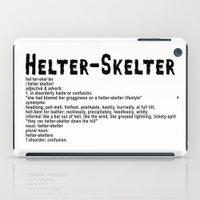 Helter Skelter (black On… iPad Case