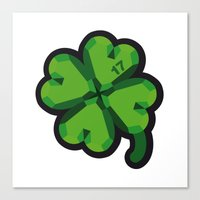 Lucky At 17th March Canvas Print