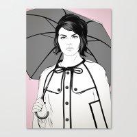 Llueve Canvas Print