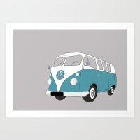 VW Camper Van Art Print