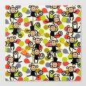 felt monkeys Canvas Print
