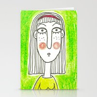 Green Girl Stationery Cards