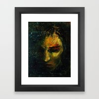 Das Leben ist wie ein trauriger Abend... Framed Art Print